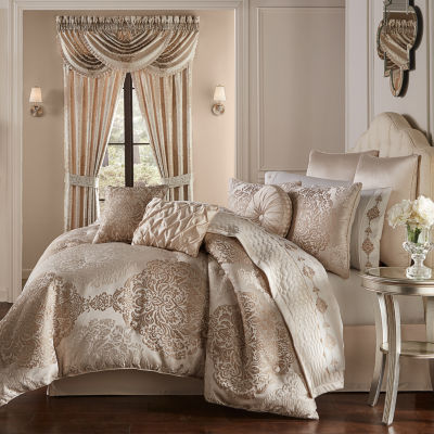 Queen Street Kennedy 6-pc. Damask + Scroll Comforter Set