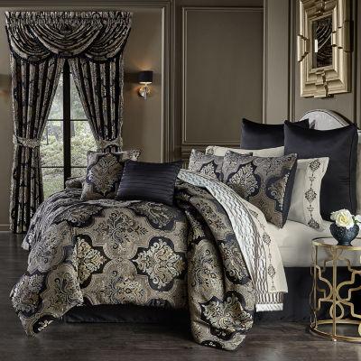 Queen Street Abigail 6-pc. Damask + Scroll Comforter Set