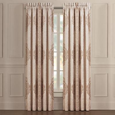 Queen Street Kennedy Light-Filtering Rod-Pocket Set of 2 Curtain Panel