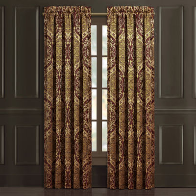 Queen Street Harper Light-Filtering Rod-Pocket Set of 2 Curtain Panel