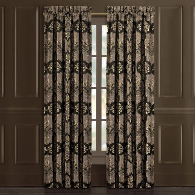 Queen Street Abigail Light-Filtering Rod-Pocket Set of 2 Curtain Panel