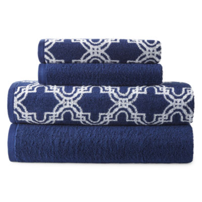 JCPenney Home Moroccan Tile 4-pc. Geometric Bath Towel Set