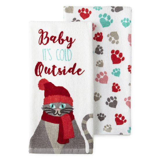 North Pole Trading Co. Cat 2-pc. Kitchen Towel