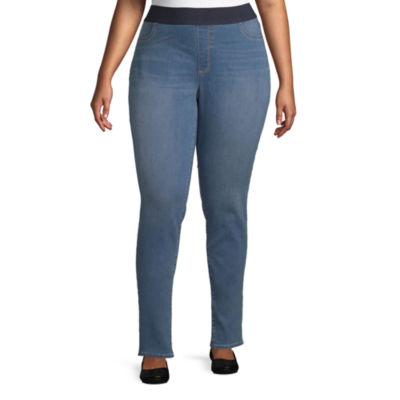 St. John's Bay Womens Mid Rise Slim Jeggings - Plus