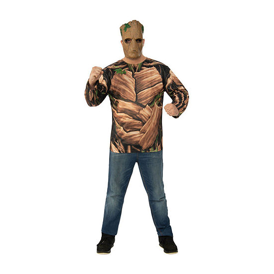 Avengers Endgame Teen Groot Adult Top 4-pc. Dress Up Costume Mens