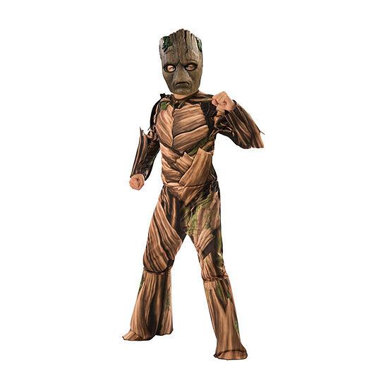 Avengers Endgame Teen Groot Child Deluxe 4-pc Dress Up Costume Boys