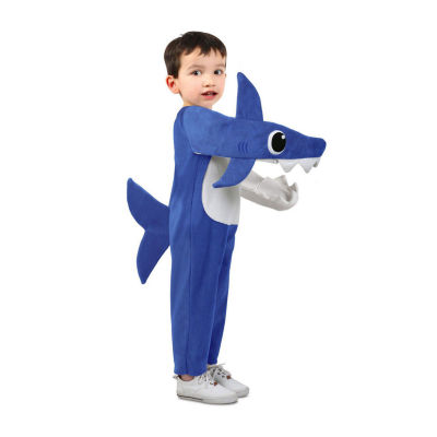 Child Chompin' Daddy Shark Costume With Sound Chip Unisex Costume
