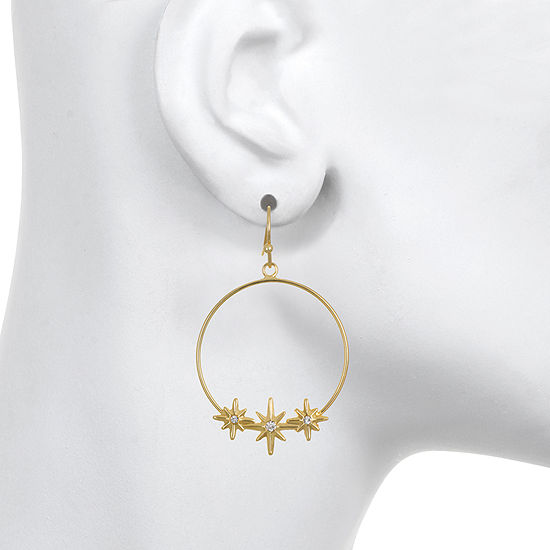 Mixit Star Hoop Earrings