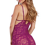 Dreamgirl Womens Lace Chemise Sleeveless