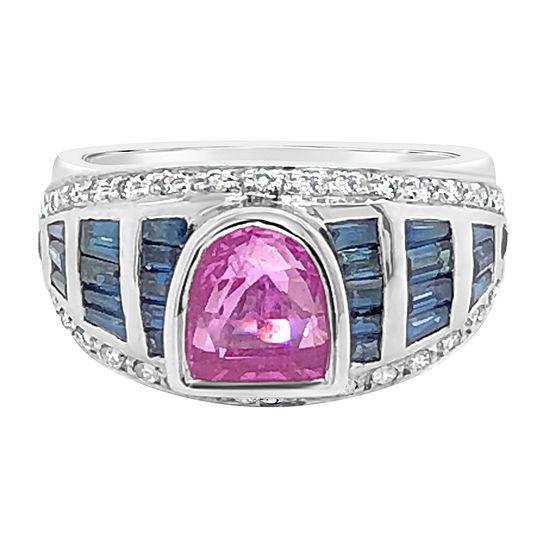LIMITED QUANTITIES! Le Vian Grand Sample Sale™ Ring featuring Bubble Gum Pink Sapphire™ Blueberry Sapphire™ set in 18K Vanilla Gold®