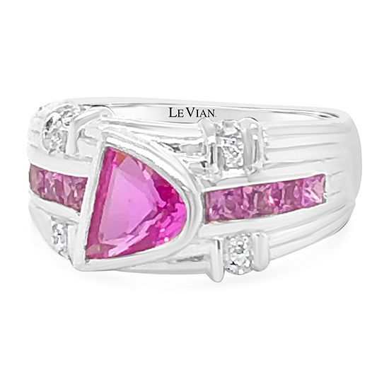 LIMITED QUANTITIES! Le Vian Grand Sample Sale™ Ring featuring Bubble Gum Pink Sapphire™ set in 18K Vanilla Gold®