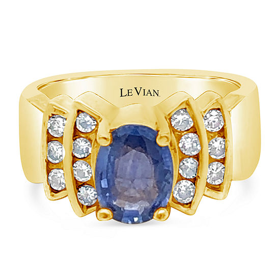LIMITED QUANTITIES! Le Vian Grand Sample Sale™ Ring featuring Cornflower Ceylon Sapphire™ set in 18K Honey Gold™