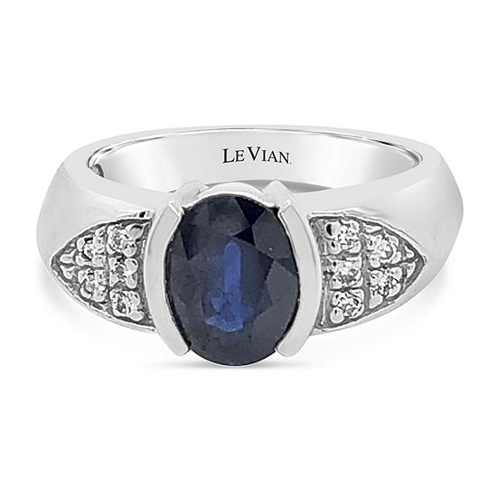 LIMITED QUANTITIES! Le Vian Grand Sample Sale™ Ring featuring Blueberry Sapphire™ set in 14K Vanilla Gold®