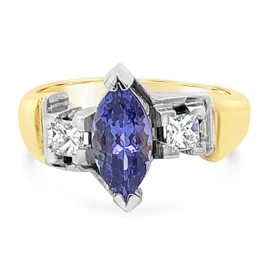 LIMITED QUANTITIES! Le Vian Grand Sample Sale™ Ring featuring Blueberry Tanzanite® set in 18K Two Tone Gold