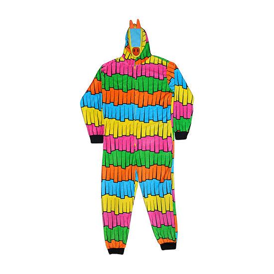 Mad Engine Mens Microfleece One Piece Pajama Long Sleeve Fortnite