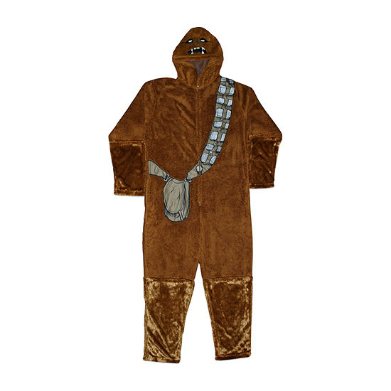 Mens Microfleece One Piece Pajama Long Sleeve Chewbacca