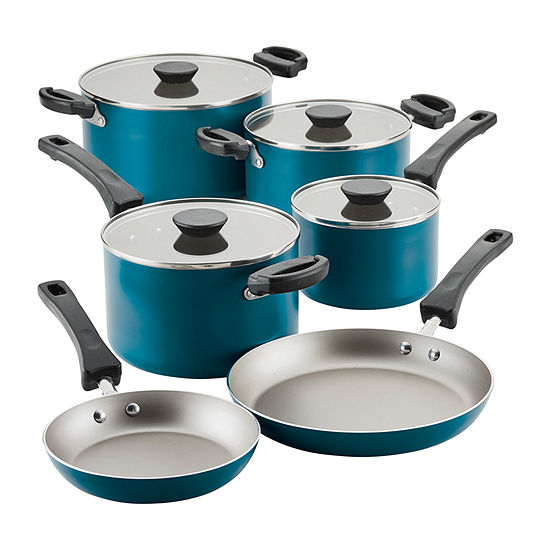 Farberware 10-pc. Aluminum Non-Stick Cookware Set