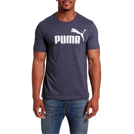 Puma-Big and Tall Mens Crew Neck Short Sleeve T-Shirt