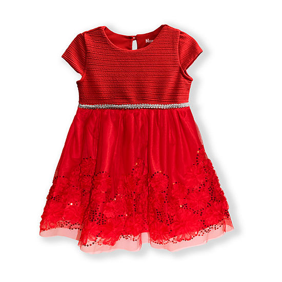Nannette Baby Toddler Girls Sleeveless Cap Sleeve A-Line Dress