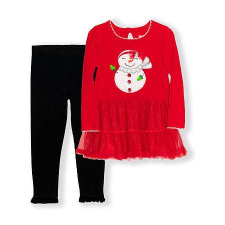 Nannette Baby Toddler Girls 2-pc. Dress Set, 2t , Red