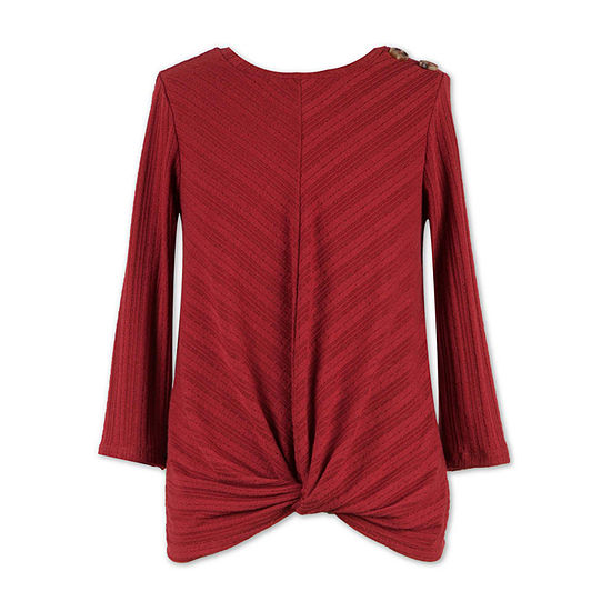 Speechless Big Girls Scoop Neck 3/4 Sleeve T-Shirt