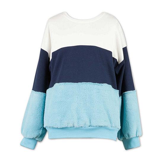 Speechless Big Girls Scoop Neck Long Sleeve Sweatshirt