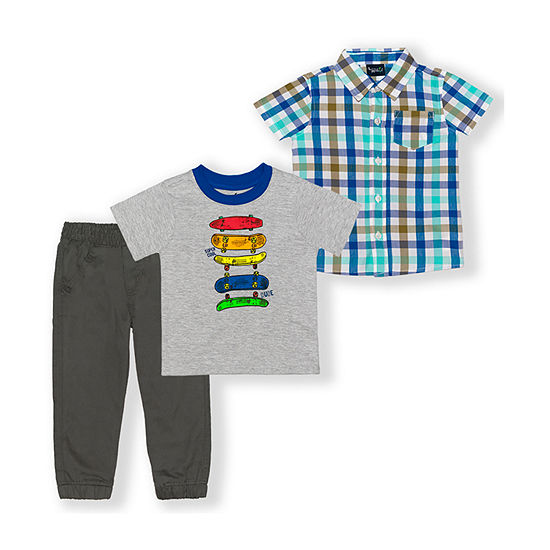 Little Rebels Toddler Boys 3-pc. Pant Set