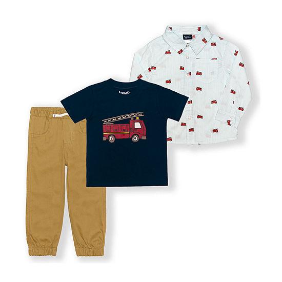 Little Rebels Toddler Boys 3-pc. Pant Set