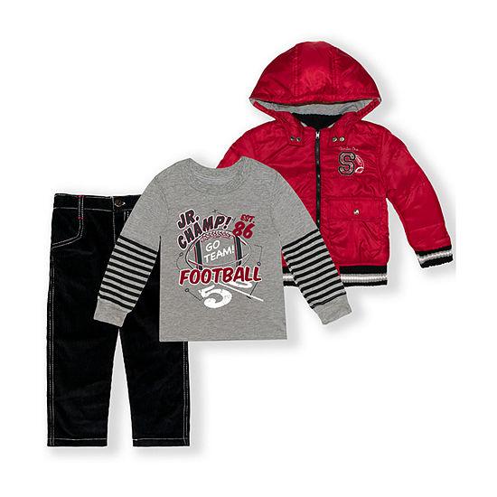 Nannette Baby Toddler Boys 3-pc. Pant Set