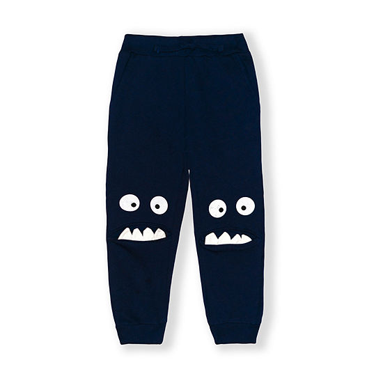 10 Threads Toddler Boys Mid Rise Straight Jogger Pant