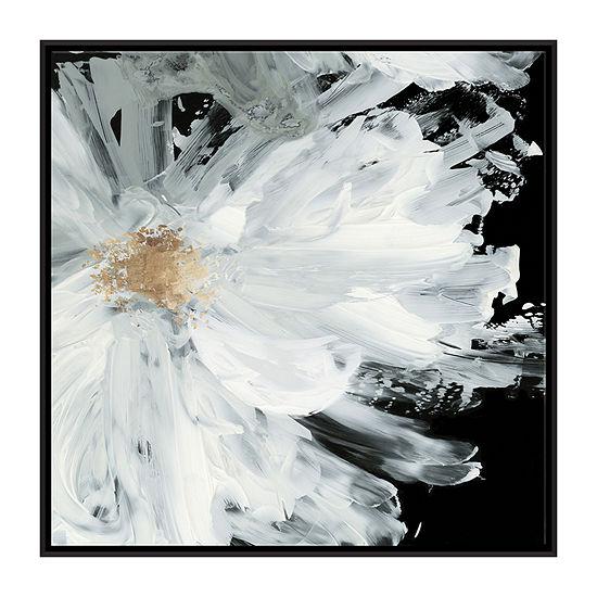 Boston Warehouse 25X28 Black Peony Canvas Art