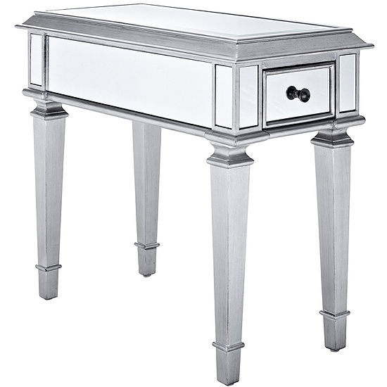 "Garbo Mirrored 24"" Side Table"