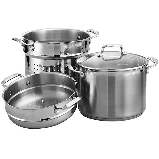 Tramontina® Gourmet 4-pc. Tri-Ply 8-qt. Multi-Cooker