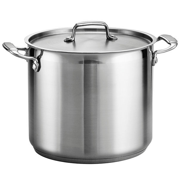 Tramontina® Gourmet 12-qt. Tri-Ply Covered Stock Pot
