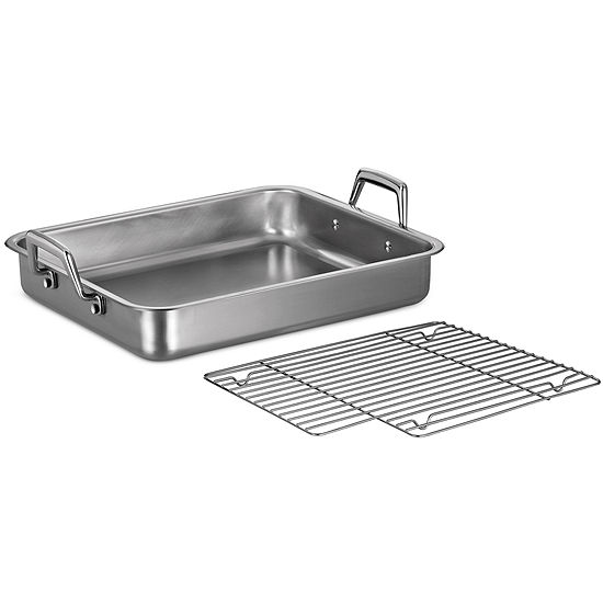 "Tramontina® Gourmet 15"" Stainless Steel Roasting Pan"