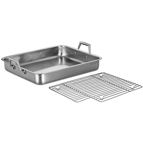 "Tramontina® Gourmet 16"" Stainless Steel Roasting Pan"