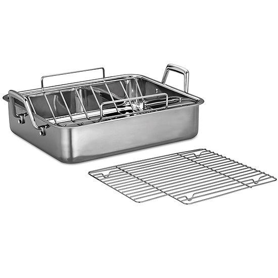 "Tramontina® Gourmet 16½"" Stainless Steel Deep Roasting Pan"