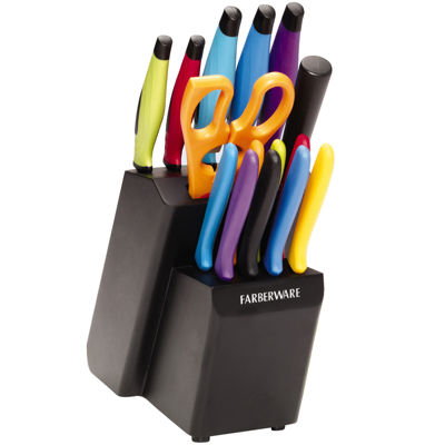 Farberware® 16-pc. Colored Knife Set