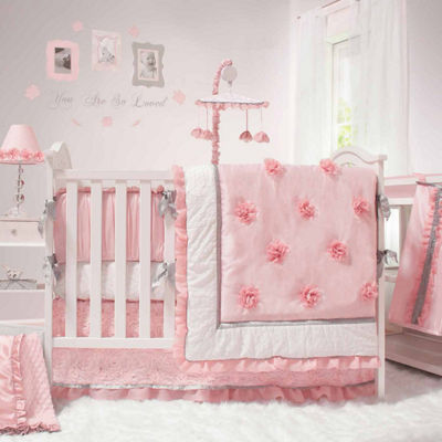the Peanut Shell Arianna 4-PC Crib Bedding Set