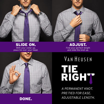 Van Heusen® Tie Right Slim Panel Tie