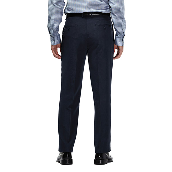 Haggar Travel Performance Tic Weave Classic Fit Suit Pant