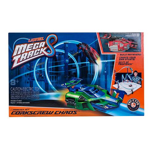 Lionel Red Mega Tracks Corkscrew Chaos Set