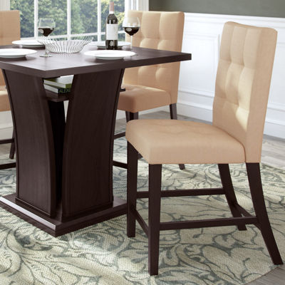 Bistro Tufted Fabric Counter Height Dining Chairs Set Of 2