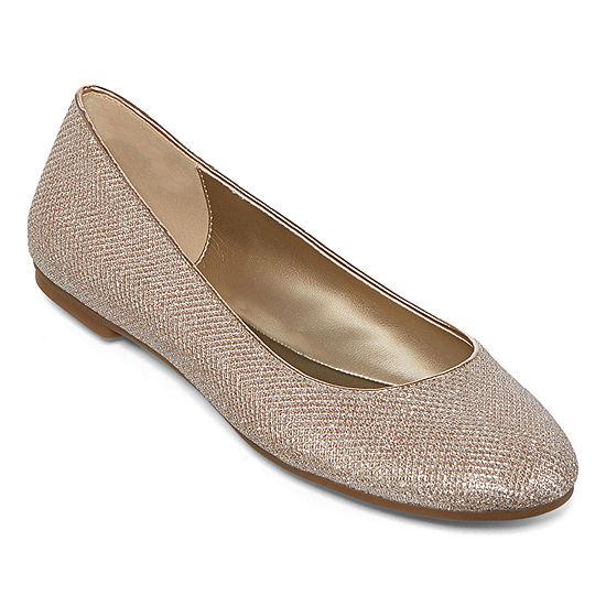 060b22c39259 Worthington® Fifi Metallic Ballet Flats - JCPenney