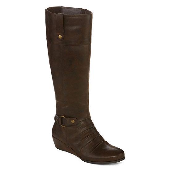 Yuu Shela Wedge Riding Boots