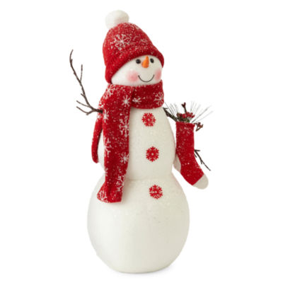 "North Pole Trading Co. Christmas Cheer 18"" Snowman Figurine"