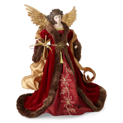 "North Pole Trading Co. Winter Lodge 16"" Traditional Angel Figurine"