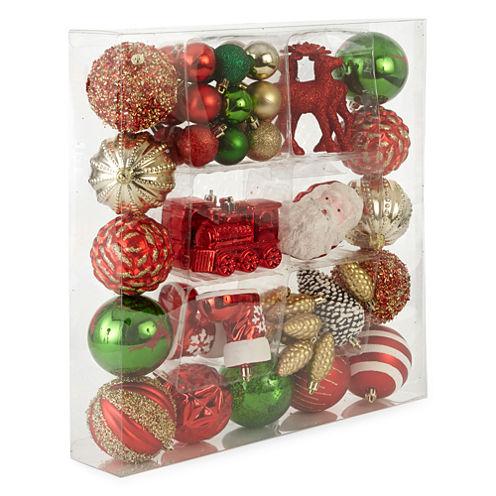 North Pole Trading Co. Winter Lodge Homespun Holiday 50-pc. Christmas Ornament