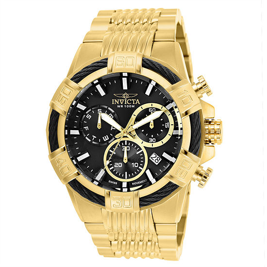 Invicta Bolt Mens Gold Tone Stainless Steel Bracelet Watch-25867