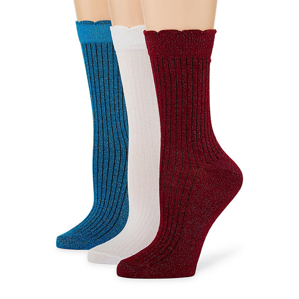 Libby Edelman 3 Pair Crew Socks - Womens